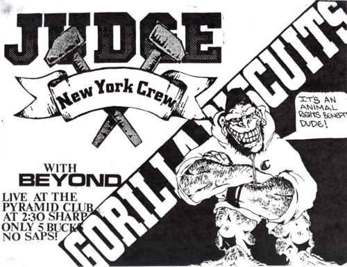 Judge-Gorilla Biscuits-Beyond @ Pyramid Club New York City NY