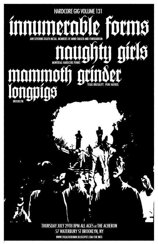 Innumerable Forms-Naughty Girls-Mammoth Grinder-Longpigs @ Archeron Brooklyn NY 7-29-10