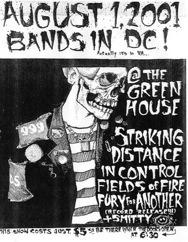 Striking Distance-In Control-Fields Of Fire-Fury For Another @ The Green House 8-1-01