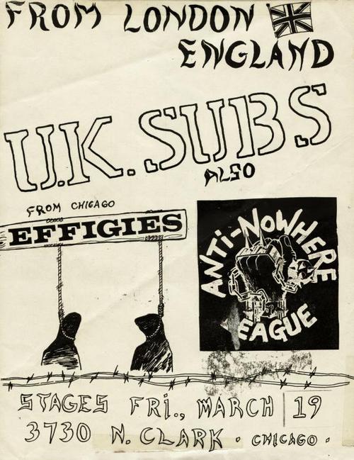 UK Subs-The Effigies-Anti Nowhere League @ State 5 Chicago IL 3-19-88