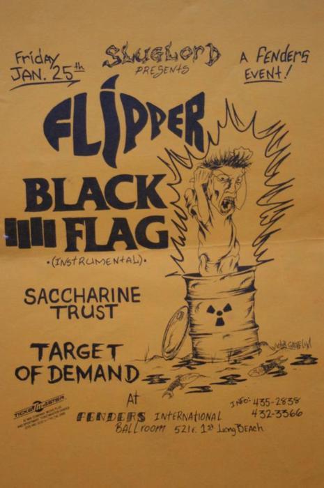 Flipper-Black Flag (Instrumental)-Saccharine Trust-Target On Demand @ Fenders Long Beach CA 1-25-85