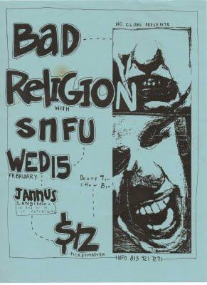 Bad Religion-SNFU @ Jannus Landing St. Petersburg FL 2-15-89