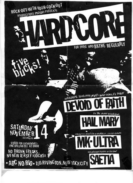 Devoid Of Faith-Hail Mary-MK Ultra-Saetia @ ABC No Rio New York City NY 11-14-98