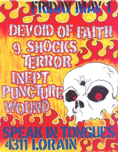 Devoid Of Faith-9 Shocks Terror-Inept-Puncture Wound @ Speak In Tongues Cleveland OH 5-1-98
