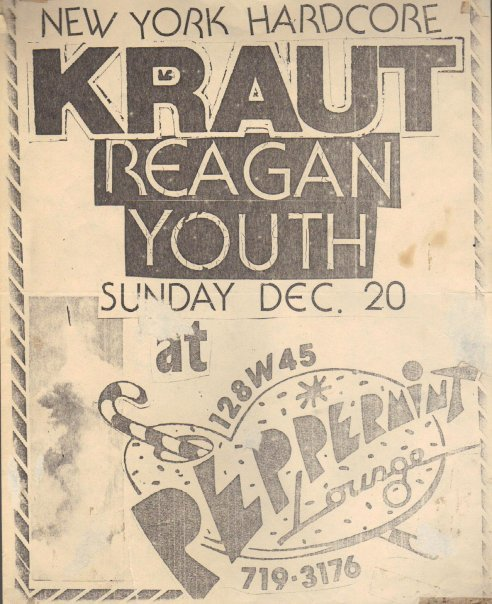 Kraut-Reagan Youth @ Peppermint Lounge New York City NY 12-20-81