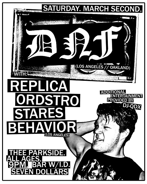 DNF-Replica-Ordstro-Stares-Behavior @ San Francisco CA Thee Parkside 3-2-13