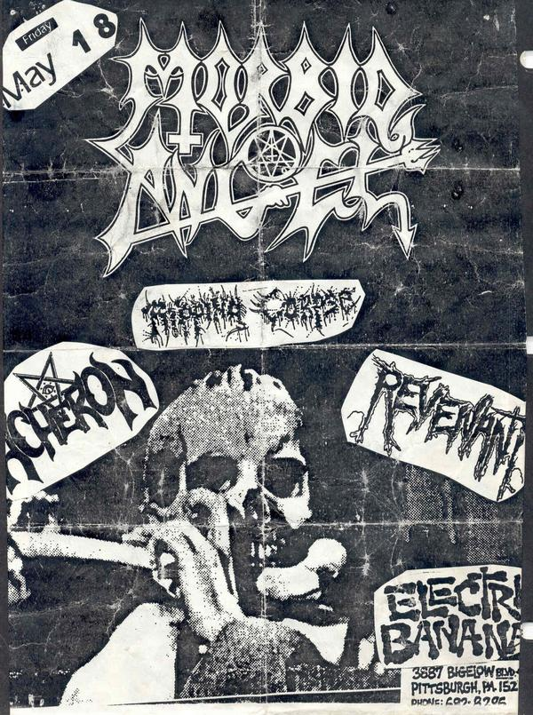 Morbid Angel-Ripping Corpse-Acheron-Revenant @ Eletric Banana Pittsburgh PA 5-18-90