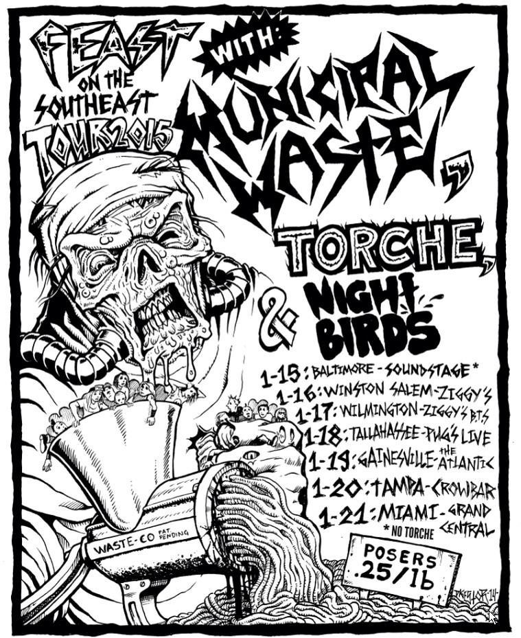 Municipal Waste-Torche-Night Birds Tour 2015