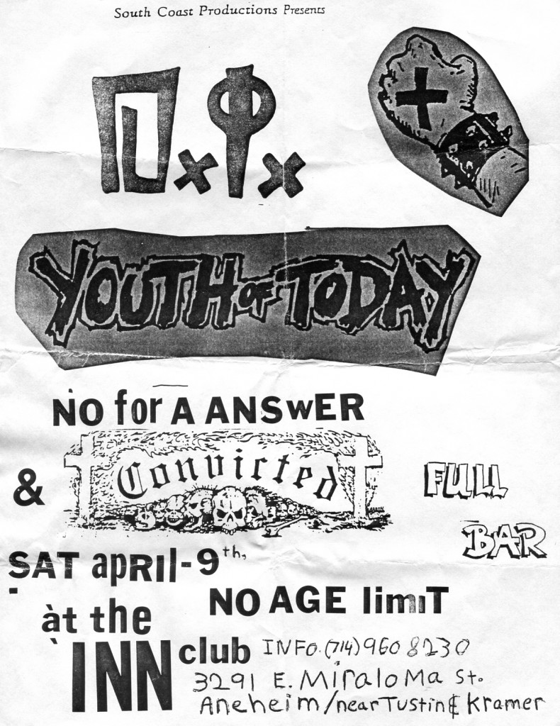 Youth Of Today-No For An Answer-Convicted @ Anaheim CA 4-9-88