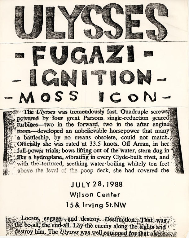 Nation Of Ulysses-Fugazi-Ignition-Moss Icon @ Washington DC 7-28-88