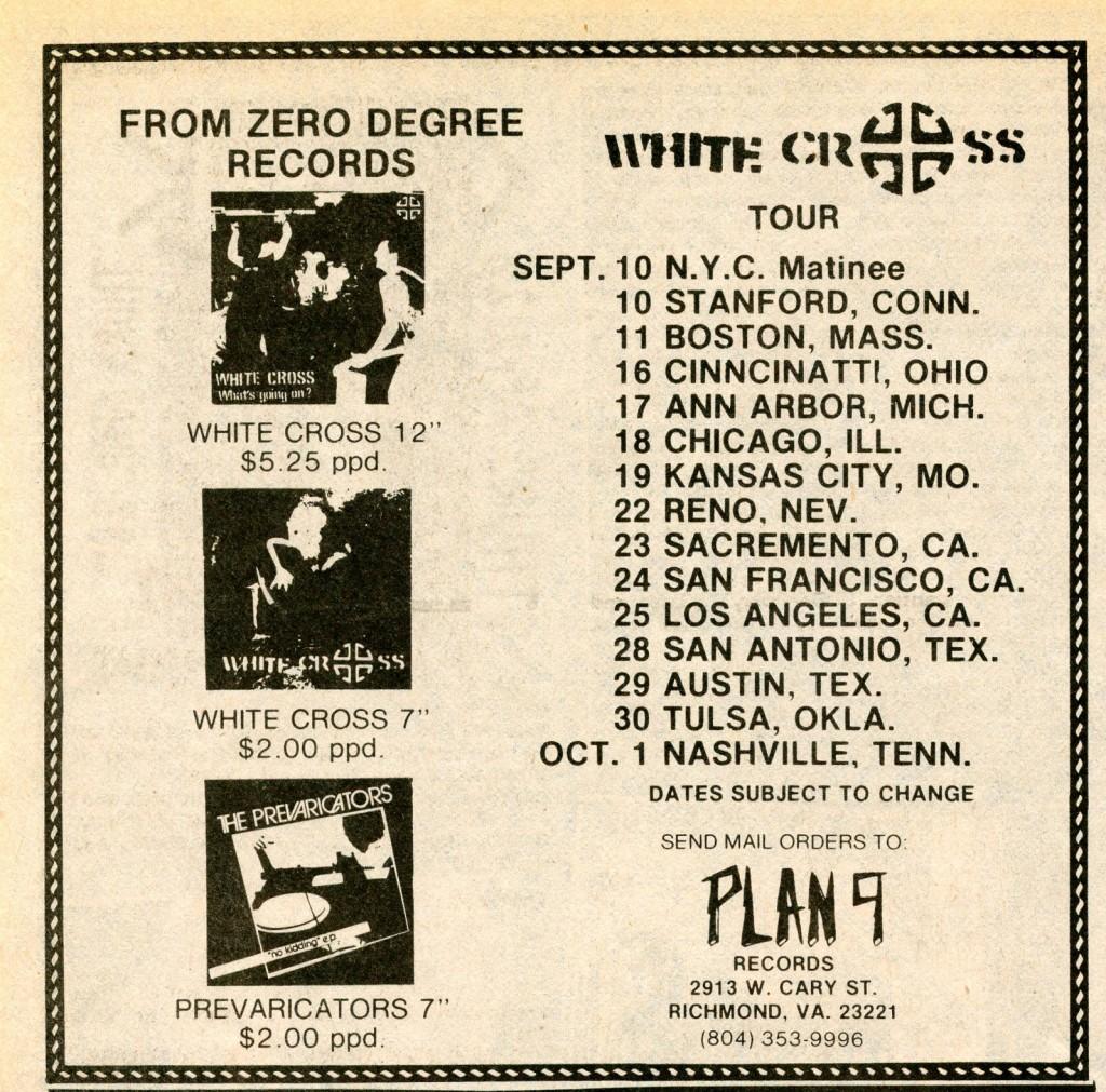 White Cross Tour 1984