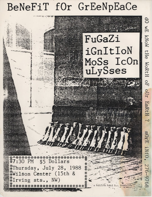 Fugazi-Ignition-Moss Icon-Nation Of Ulysses @ Washington DC 7-28-88