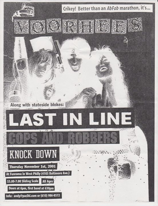 Voorhees | Last In Line | Cops & Robbers | Knockdown @ Philadelphia PA 11-1-01