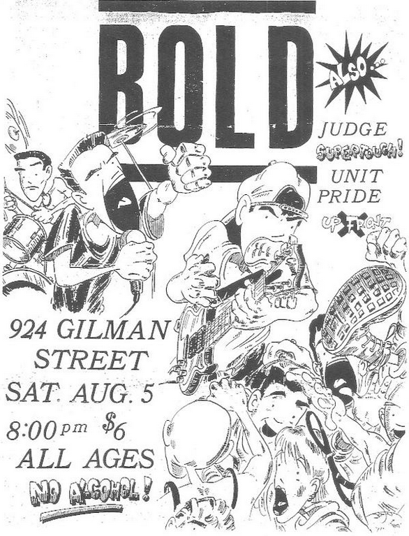 Bold-Unit Pride-Judge-Up Front-Supertouch @ Berkeley CA 8-5-88