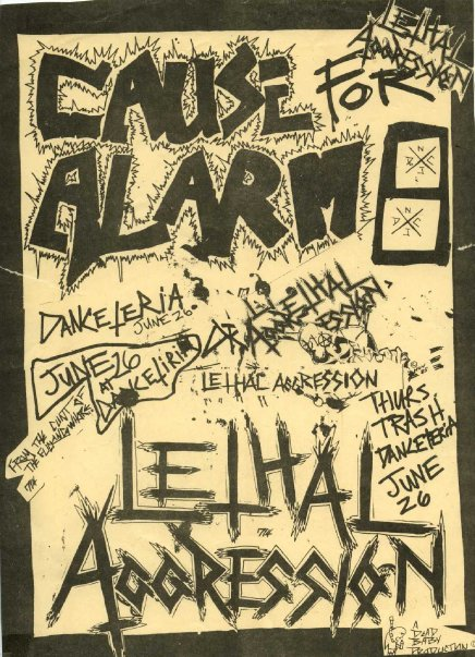 Cause For Alarm-Lethal Aggression @ New York City NY 6-26-UNKNOWN YEAR