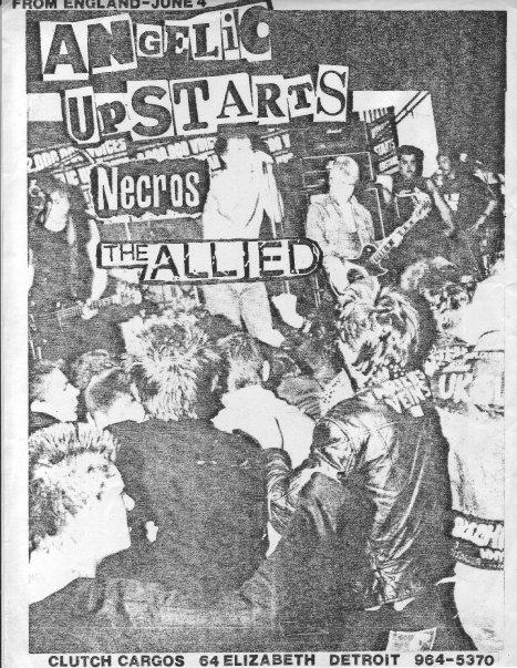 Angelic Upstarts-Necros-The Allied @ Detroit MI 6-4-82