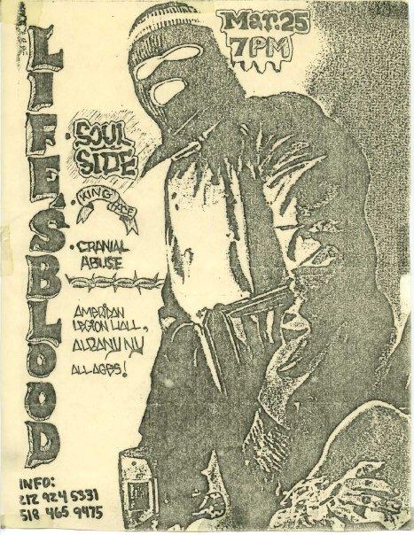 Life's Blood-Soulside-Kingface-Cranial Abuse @ Albany NY 3-25-88