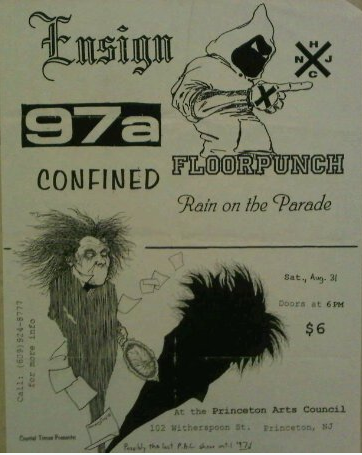 Ensign-Floorpunch-97a-Confined-Rain On The Parade @ Princeton NJ 8-31-96