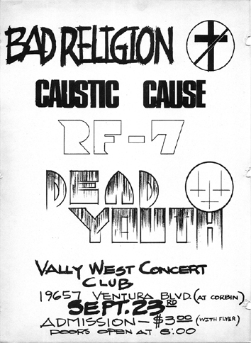 Bad Religion-Caustic Cause-RF7-Dead Youth @ Ventura CA 9-23-UNKNOWN YEAR