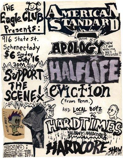 American Standard-Apology-Half Life @ Albany NY 7-16-88
