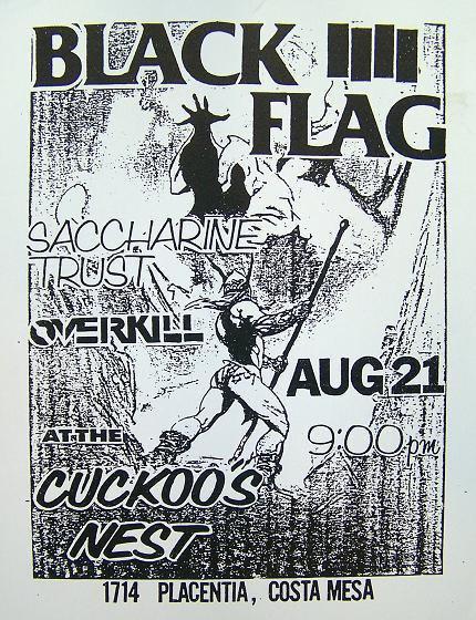 Black Flag-Saccharine Trust-Overkill @ Costa Mesa CA 8-21-81
