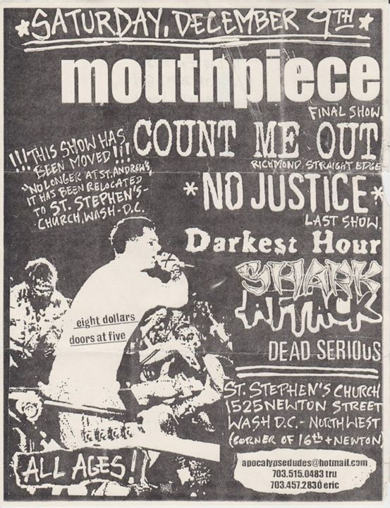 Mouthpiece-Count Me Out-No Justice-Darkest Hour-Shark Attack-Dead Serious @ Washington DC 12-9-00