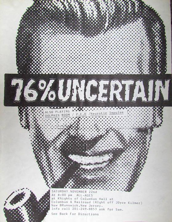 76% Uncertain-Dolphin Room-Post Ejaculation Depression-Neurotic Impulse @ New Brunswick NJ 11-22-87