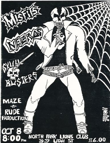 Misfits-Necros-Skull Busters @ San Diego CA 10-8-82