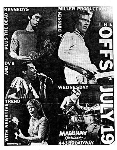 The Offs-Dead Kennedys-Negative Trend @ San Francisco CA 7-19-78