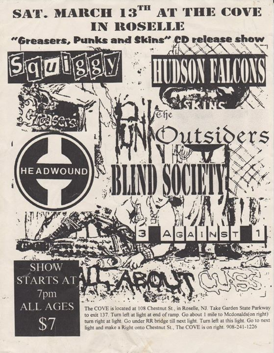 Squiggy-Hudson Falcons-The Outsiders-Headwound-Blind Society-Three Against One @ Roselle NJ 3-13-99