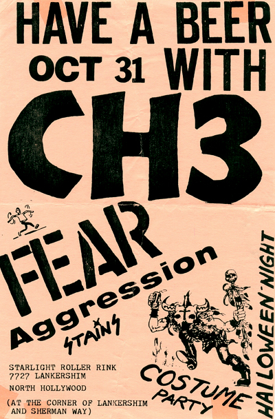 Channel 3-Fear-Aggression-Stains @ Hollywood CA 10-31-80