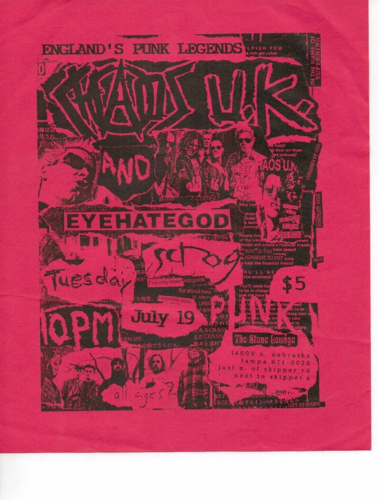 Chaos UK-Eyehategod @ Tampa FL 7-19-94