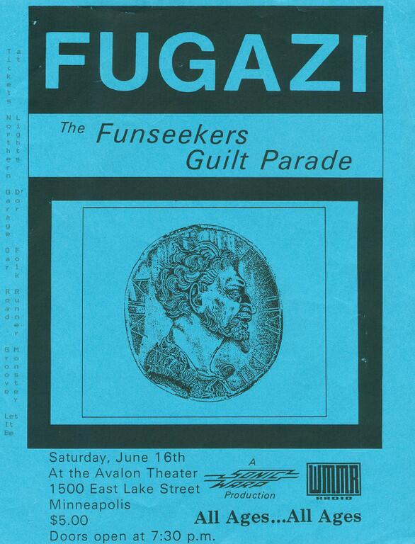 Fugazi-The Funseekers-Guilt Parade @ Minneapolis MN 6-16-90