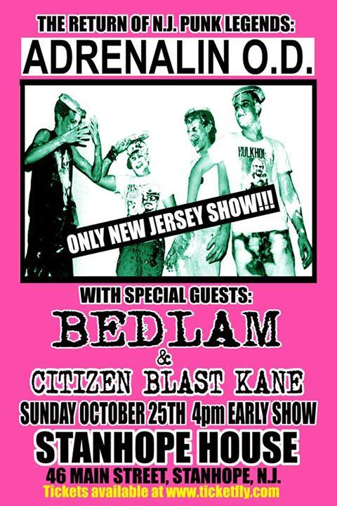 Adrenalin OD-Bedlam-Citizen Blast Kane @ Stanhope NJ 10-25-15