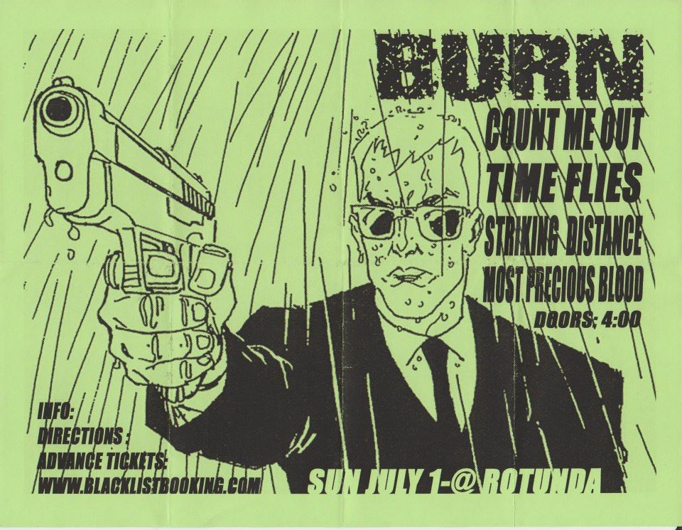Burn-Count Me Out-Time Flies-Striking Distance-Most Precious Blood @ Philadelphia PA 7-1-01