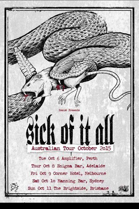 Sick Of It All Australian Tour 2015