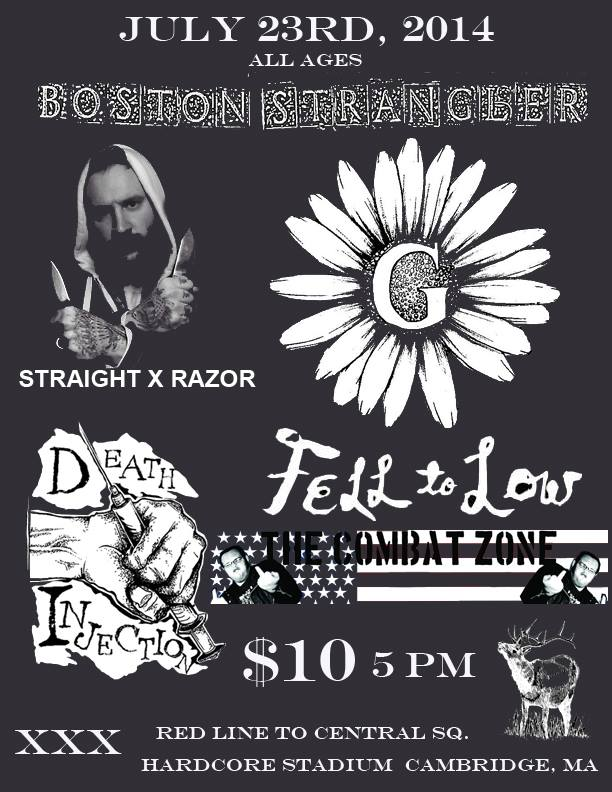 Boston Strangler-Straight Razor-Give-Fell To Low-Death Injectors @ Cambridge MA 7-23-14