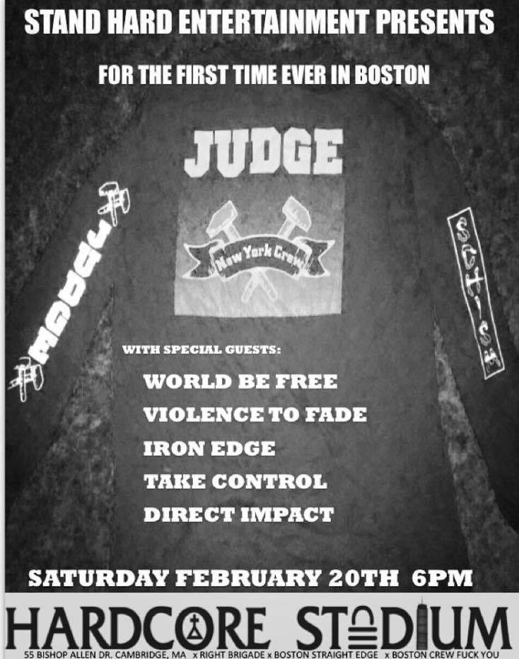 Judge-World Be Free-Violence To Fade-Iron Edge-Take Control-Direct Impact @ Boston MA 2-20-16