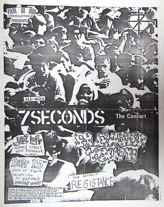 7 Seconds-Pleased Youth-Resistance @ New Brunswick NJ 9-15-85