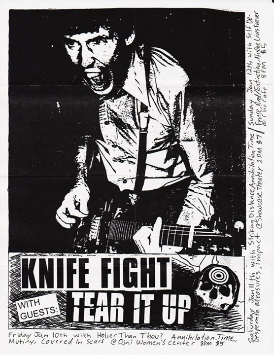 Knife Fight-Tear Ir Up-Holier Than Thou-Annihilation Time @ Ojai CA 1-10-03