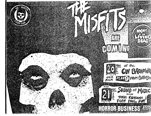 Misfits-Toxic Reasons-Pope Paul Pot @ San Francisco CA 10-21-81