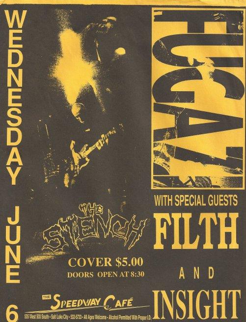 Fugazi-Filth-The Stench-Insight @ Salt Lake City UT 6-6-90