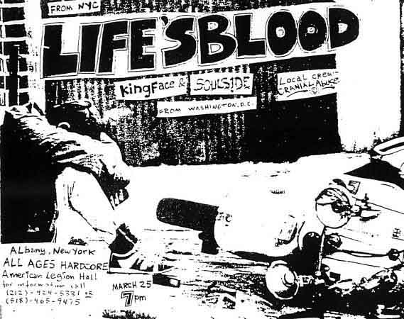 Life's Blood-King Face-Soulside-Cranial Abuse @ Albany NY 3-25-88