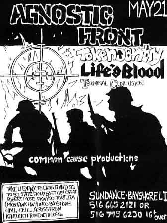 Agnostic Front-Token Entry-Life's Blood-Terminal Confusion @ Long Island NY 5-21-88