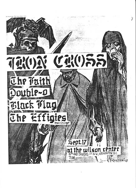Iron Cross-The Faith-Double O-Black Flag-The Effigies @ Washington DC 9-17-81
