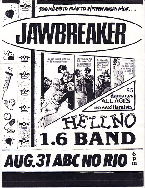 Jawbreaker-Hell No-1.6 Band @ New York City NY 8-31-91