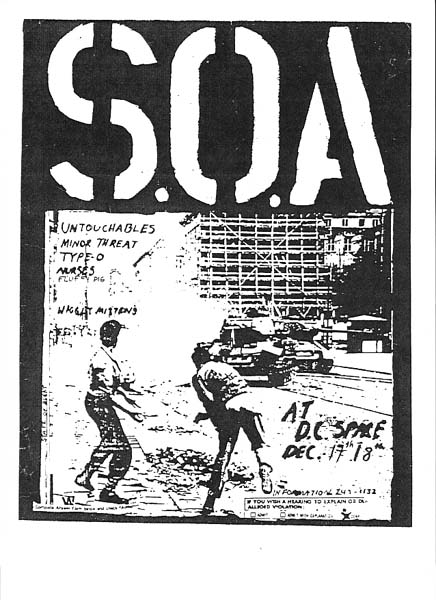 State Of Alert-Untouchables-Minor Threat-Type O-Nurses @ Washington DC 12-17-80