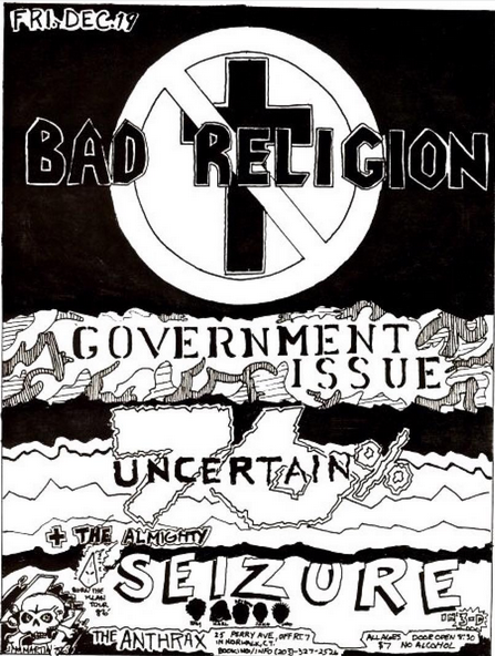 Bad Religion-Government Issue-76% Uncertain-Seizure @ Norwalk CT 12-19-86