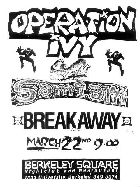 Operation Ivy-Samiam-Breakaway @ Berkeley CA