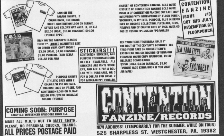 Contention Fanzine/Records